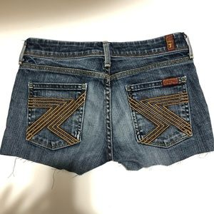 """7 for All Mankind Denim Cut Off Style Shorts 25"""""""